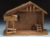 "Nativity 10-1/2"" Wooden Stable Fontanini"