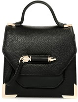 Mackage Rubie Leather Crossbody Bag In Black/Gold