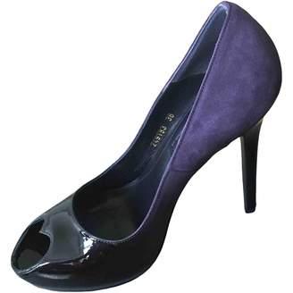 Alexander McQueen Purple Suede Heels