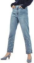 Topshop Women's Gemstone Mom Jeans