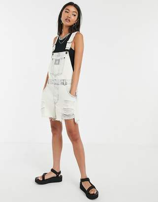 Cheap Monday Chore distressed short overalls