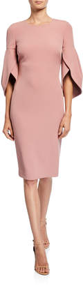 Badgley Mischka Tulip Sleeve Day Dress