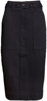 Skin and Threads A-line Belted Skirt