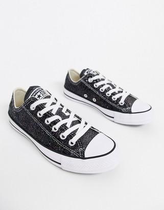 Converse Chuck Taylor Ox black sparkle glitter trainers