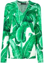 Dolce & Gabbana banana leaf print jumper
