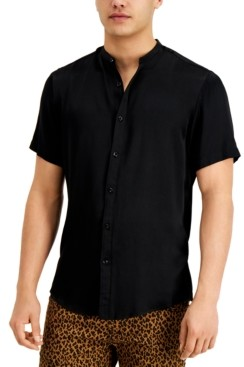 INC International Concepts Inc Men's Kody Band-Collar Shirt, Created for Macy's