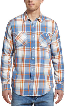 Weatherproof Vintage Men Burnt Out Plaid Shirt