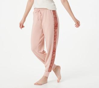 AnyBody Petite Cozy Knit Animal Print Jogger Pant