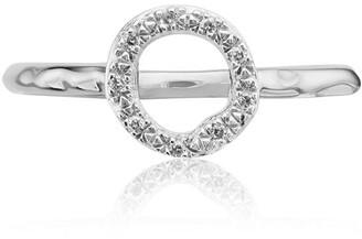 Monica Vinader Riva Mini Circle Stacking Diamond ring