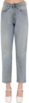 Miu Miu High Waist Cotton Denim Pants