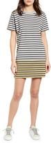 Current/Elliott The Mixed Up Stripe T-Shirt Dress