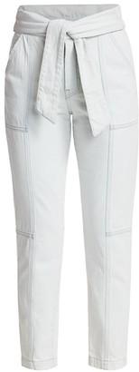 Jonathan Simkhai Henley High-Rise Denim Paperbag Pants