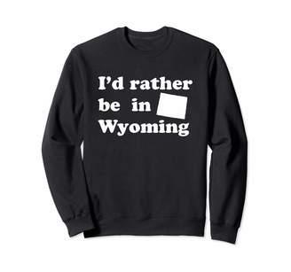 Local Apparel Wyoming And State Gifts Retro Native Wyomingites | Funny Wyoming Sweatshirt