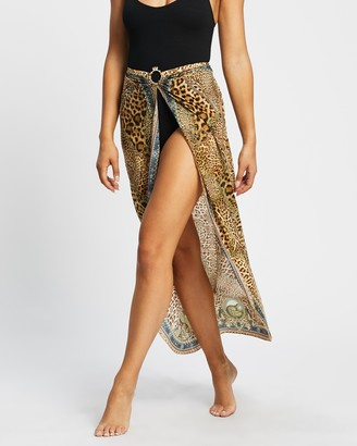 Camilla Women's Brown Kaftans & Overswim - Ring Trim Long Sarong - Size S at The Iconic