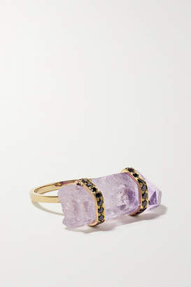 Harris Zhu - 14-karat Gold, Amethyst And Diamond Ring - Purple