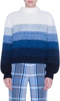 Akris Punto Stripe Alpaca Blend Balloon Sleeve Sweater