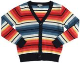 Paul Smith Striped Cotton Tricot Cardigan