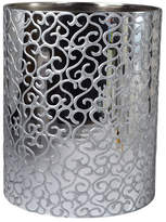 Mike and Ally Mike & Ally Jamila Glass Wastebasket, Silver