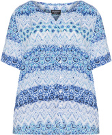 Via Appia Plus Size Tile print blouse