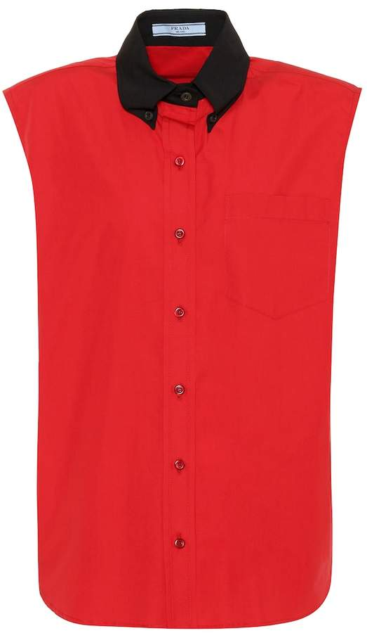 Prada Sleeveless cotton shirt