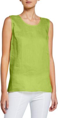 Caroline Rose Plus Size Tissue-Linen Long Tank Top