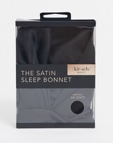Thumbnail for your product : Kitsch Satin Sleep Bonnet - Black-No color