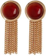 Steve Madden Carnelian Fringe Earrings