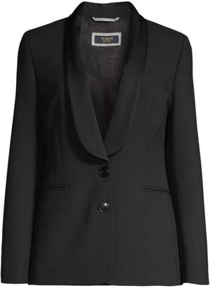 Peserico Satin Shawl-Collar Stretch-Ponte Blazer