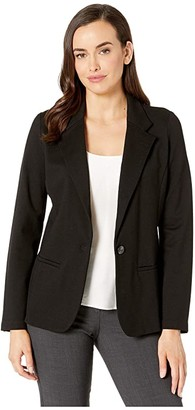 Liverpool Fitted Knit Blazer (Black) Women's Jacket