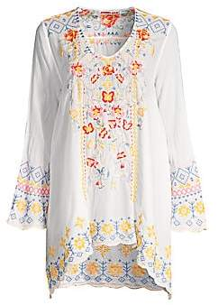 Johnny Was Women's Rosetta Embroidered Tunic