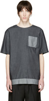 Helmut Lang Indigo Oversized Chambray T-shirt