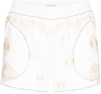 Vita Kin Embroidered Elasticated Shorts