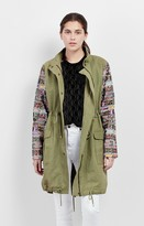 Nicole Miller Panama Tiles Military Jacket