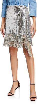 Pinko Ratatouille Sequined Fringe Skirt