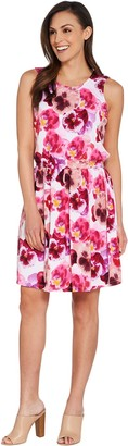 Kelly by Clinton Kelly Floral Printed Sleeveless Knit Dress