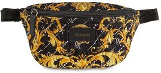 Versace Baroque Print Quilted Belt Bag