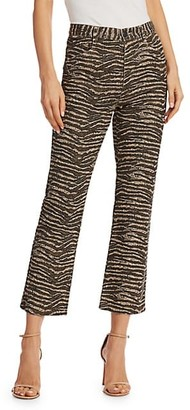 Joie Sharma Animal Print Ankle Pants