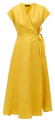 Max Mara Terreno Wrap Dress - Womens - Yellow