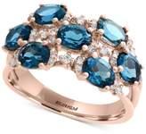 Effy EFFYandreg; London Blue Topaz (3-1/4 ct. t.w.) and Diamond (1/4 ct. t.w.) Ring in 14k Rose Gold