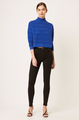 French Connenction Lilya Mozart Knits Lace Cropped Sweater