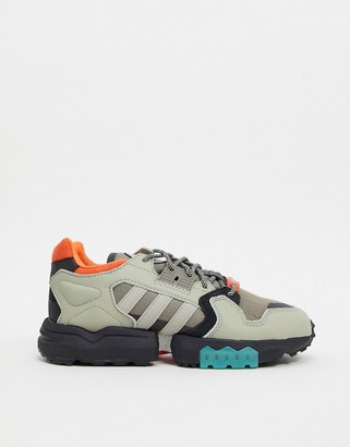 adidas ZX Torsion trail shoe in sesame and orange