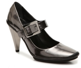 Roger Vivier Final Sale Metallic Leather Mary Jane Pump
