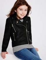 Marks and Spencer Faux Leather Biker Jacket (3-14 Years)