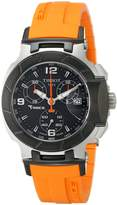 Tissot Women's T0482172705700 T-Race Chronograph Dial Orange Strap Watch
