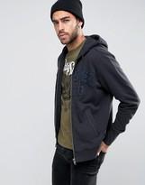 Diesel S-Joe-Hood-LT Sweatshirt Denim Logo Applique