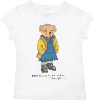 Ralph Lauren Bear Print Cotton Jersey T-Shirt