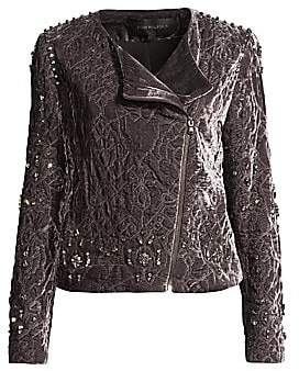 Kobi Halperin Women's Emily Abstract Quilted Velvet Jacket