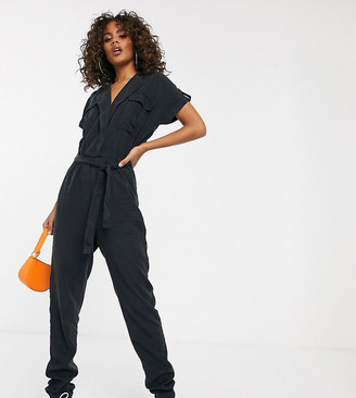 Noisy May Tall utility jumpsuit-Black