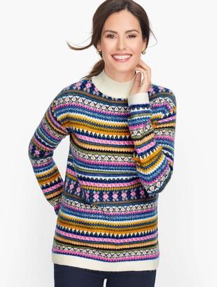 Talbots Fair Isle Mockneck Sweater