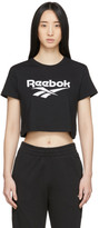 Vector Reebok Classics Black Classics Crop T-Shirt